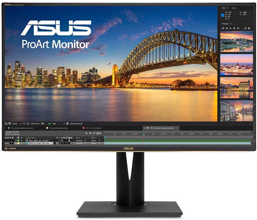 El monitor UHD de 32 pulgadas ASUS PA329Q para la edición de fotografías