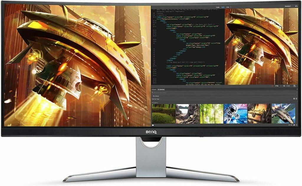 El BenQ EX3501R 21:9 Monitor QHD curvo ultra-ancho para la edición de fotos