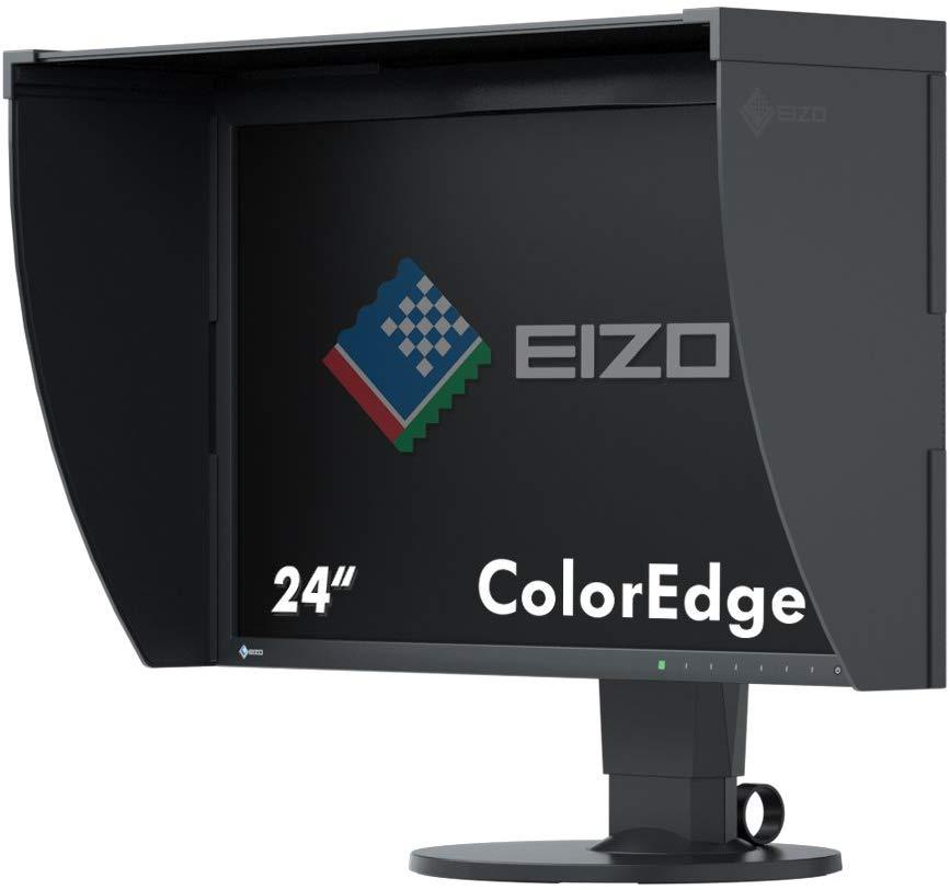 El monitor Eizo ColorEdge CG248-4K de 23,8 pulgadas con su parasol desmontable