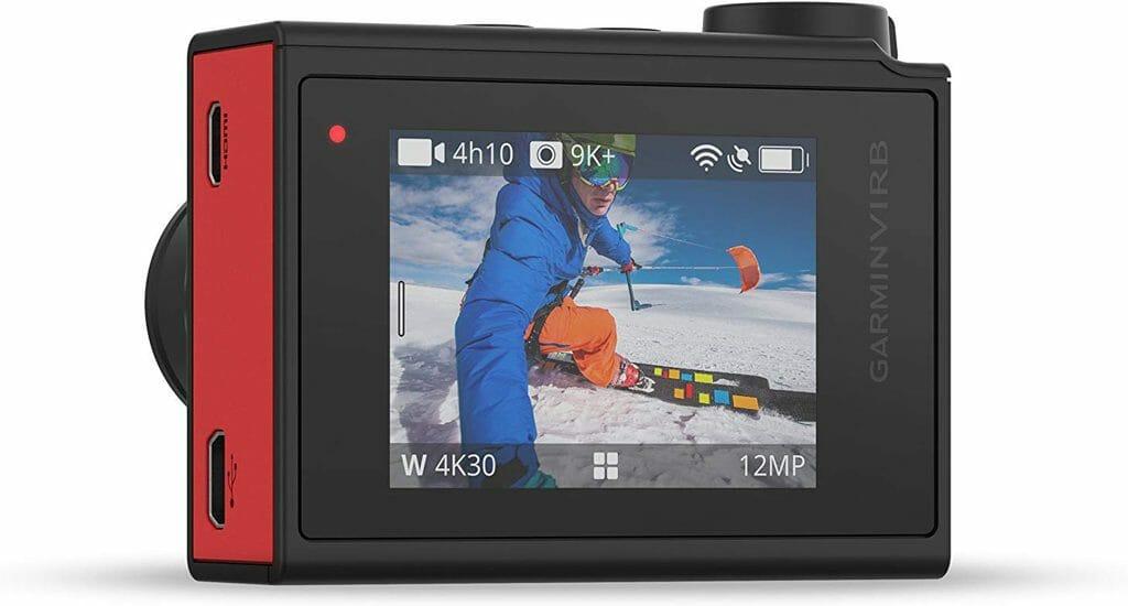 La pantalla táctil de la cámara de acción Garmin VIRB Ultra 30