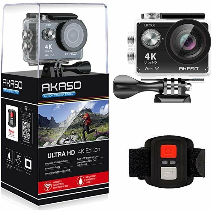 La cámara de acción AKASO EK700, una alternativa GoPro de gran presupuesto