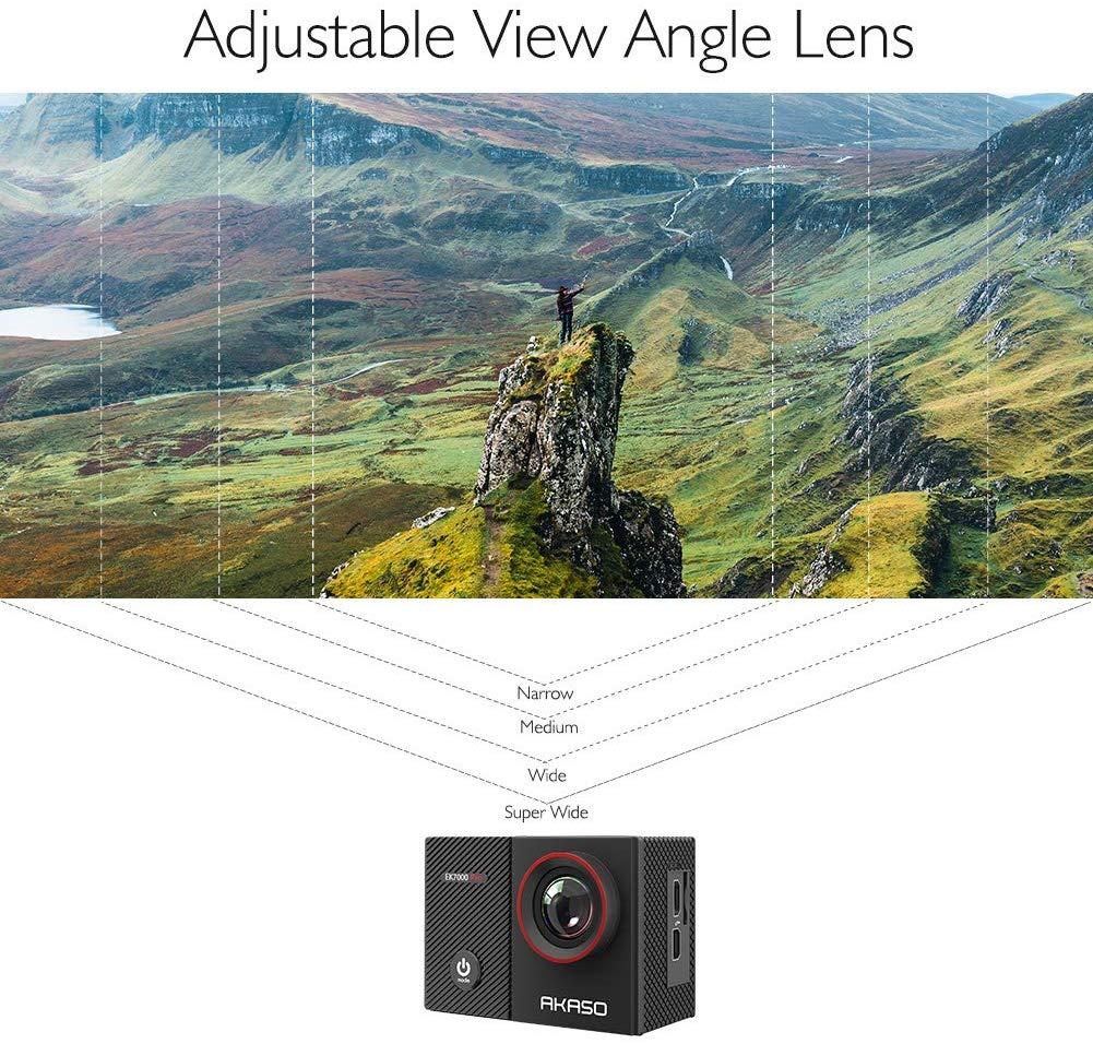 La AKASO EK7000 puede disparar a grandes ángulos