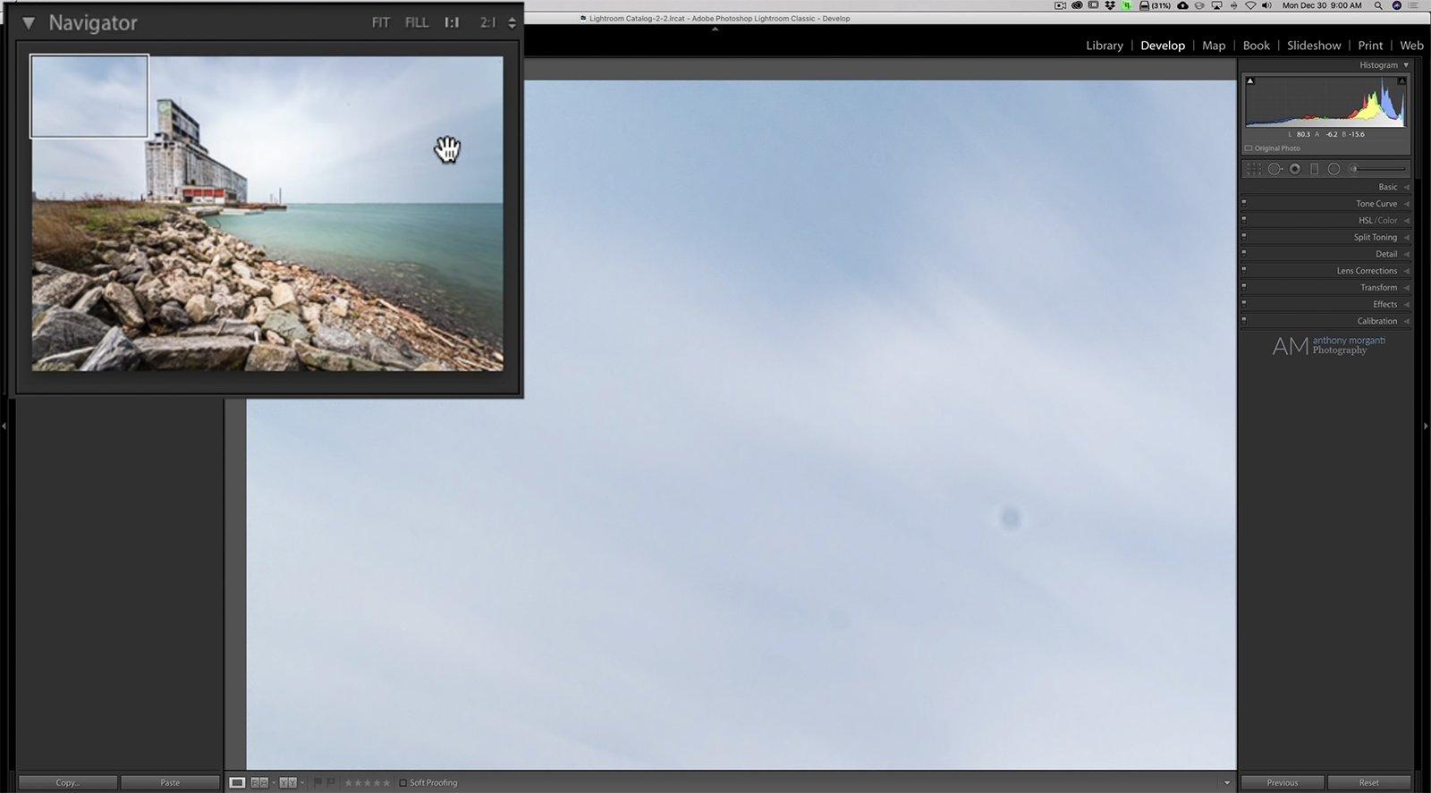 Un sencillo truco de Lightroom le ayuda a encontrar puntos de sensores (o cualquier otra cosa) en sus fotos