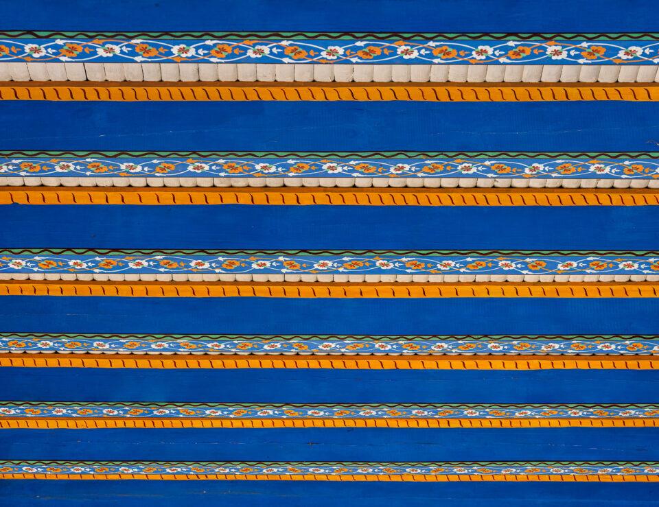 Fragmentos de madera tallados a mano de Uzbekistán