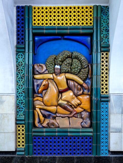 Arte mural del metro de Tashkent