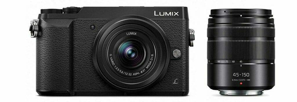 La cámara y el kit de lentes de Panasonic Lumix DMC-GX85