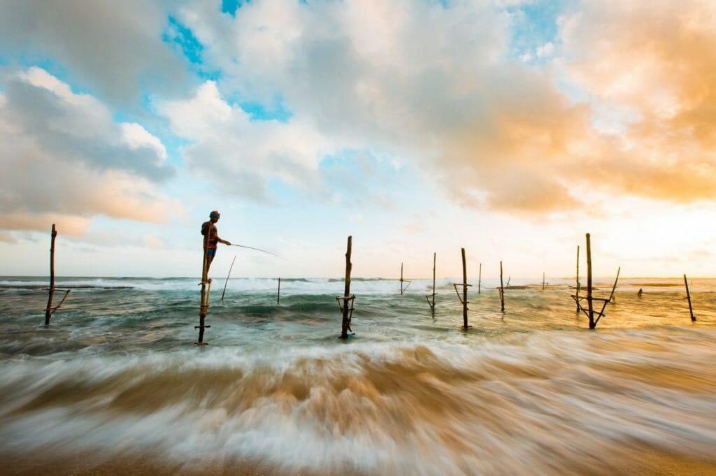 Una foto a intervalos de una playa al atardecer - una gran idea fotográfica