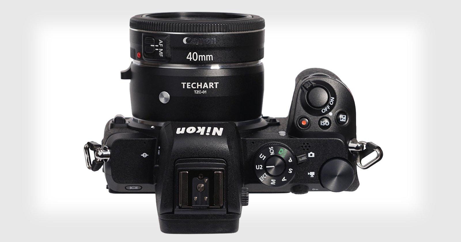 El nuevo adaptador EF-to-Z de Techart te permite usar lentes de Canon en cámaras Nikon con AF y estabilización total