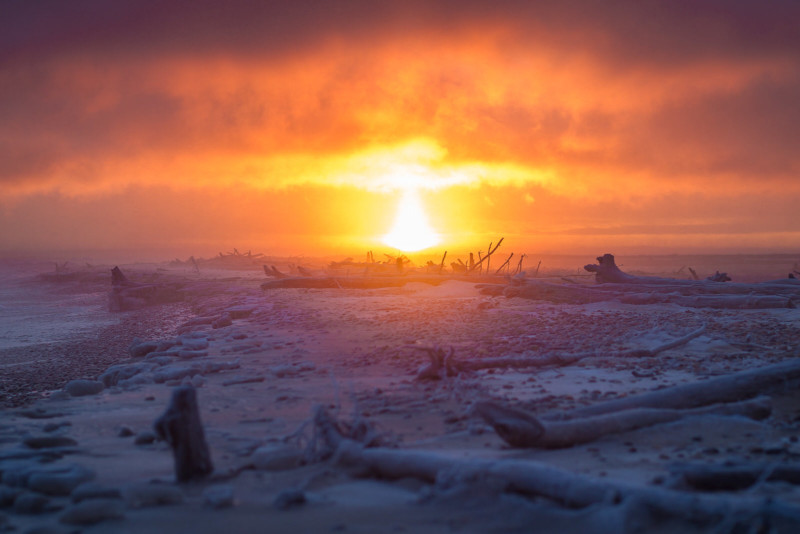 Fotógrafo de Michigan fotografió el amanecer del Lago Superior todos los días de 2019
