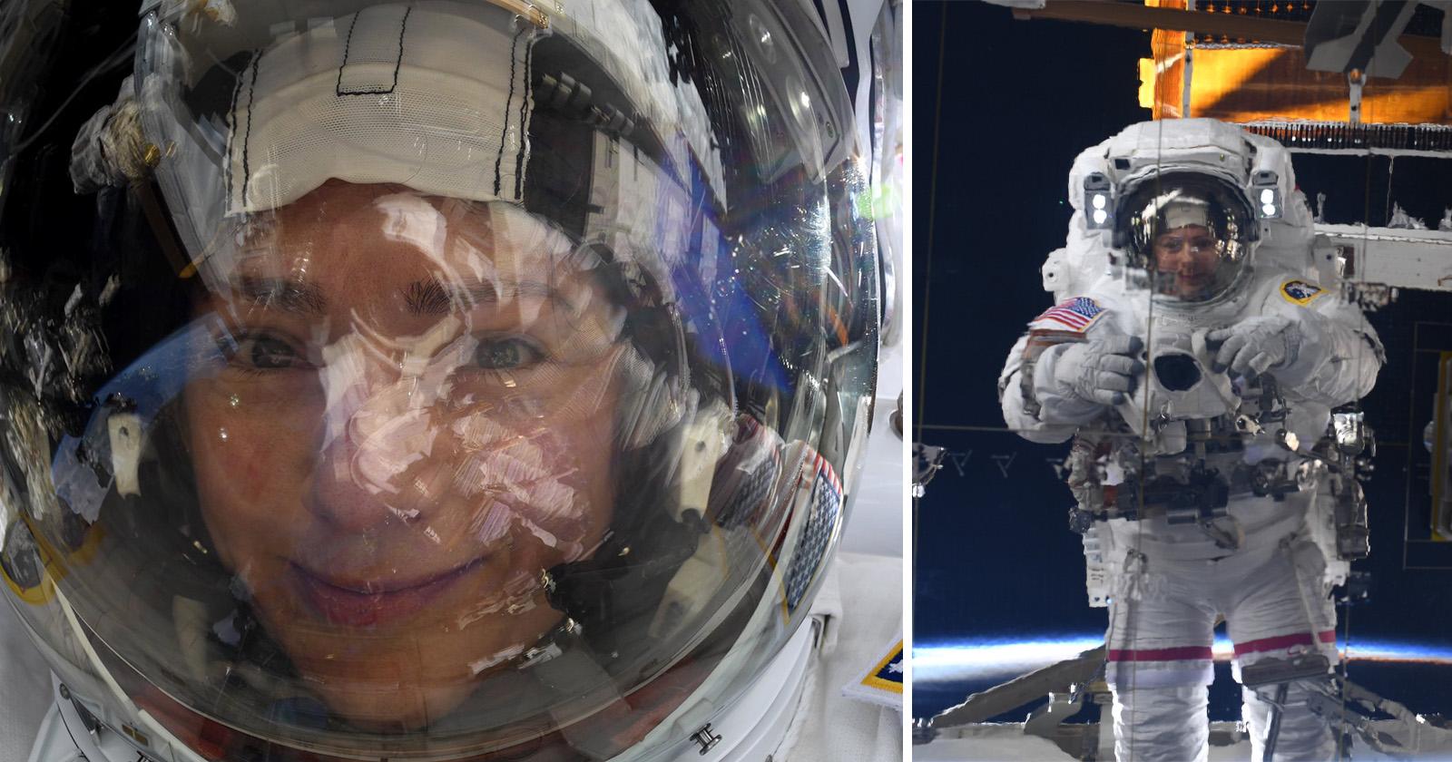 Un astronauta dispara a la caminata espacial se sella con una Nikon D5