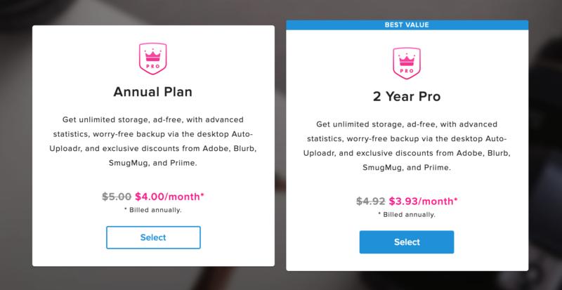 El precio de la suscripción a Flickr Pro subirá a partir de hoy