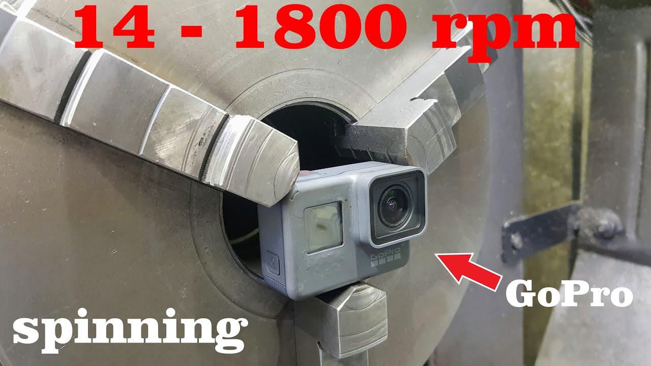 Esto es lo que parece cuando giras una GoPro a las 1800rpm