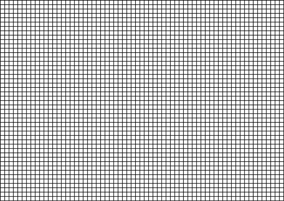 Rejilla recta, similar a la que se encuentra en los sensores de imagen