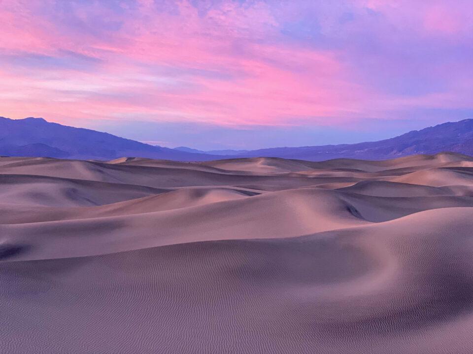 iPhone 11 Pro Image muestra de las dunas de arena de Mesquite