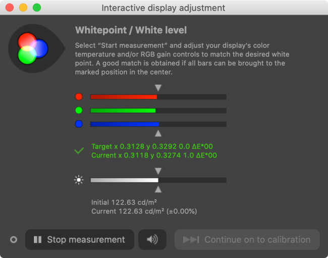 Ajuste de la pantalla interactiva DisplayCAL
