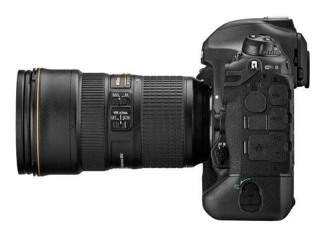 Nikon D6 Vista lateral