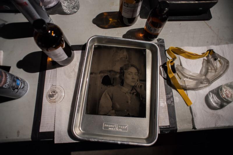 Retratos en placa húmeda del reparto de Mujercitas