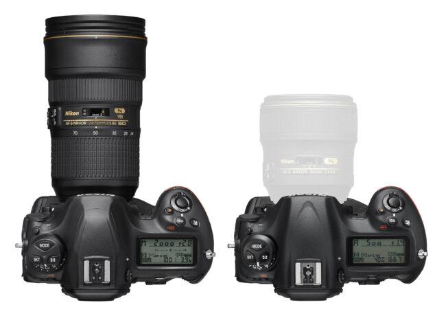 Nikon D6 vs D5 Top