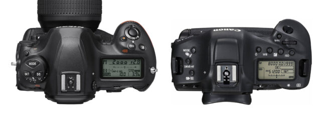Nikon D6 vs Canon 1D X Mark III Top