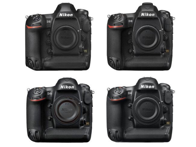 Nikon D6 vs D5 vs D4s vs D4