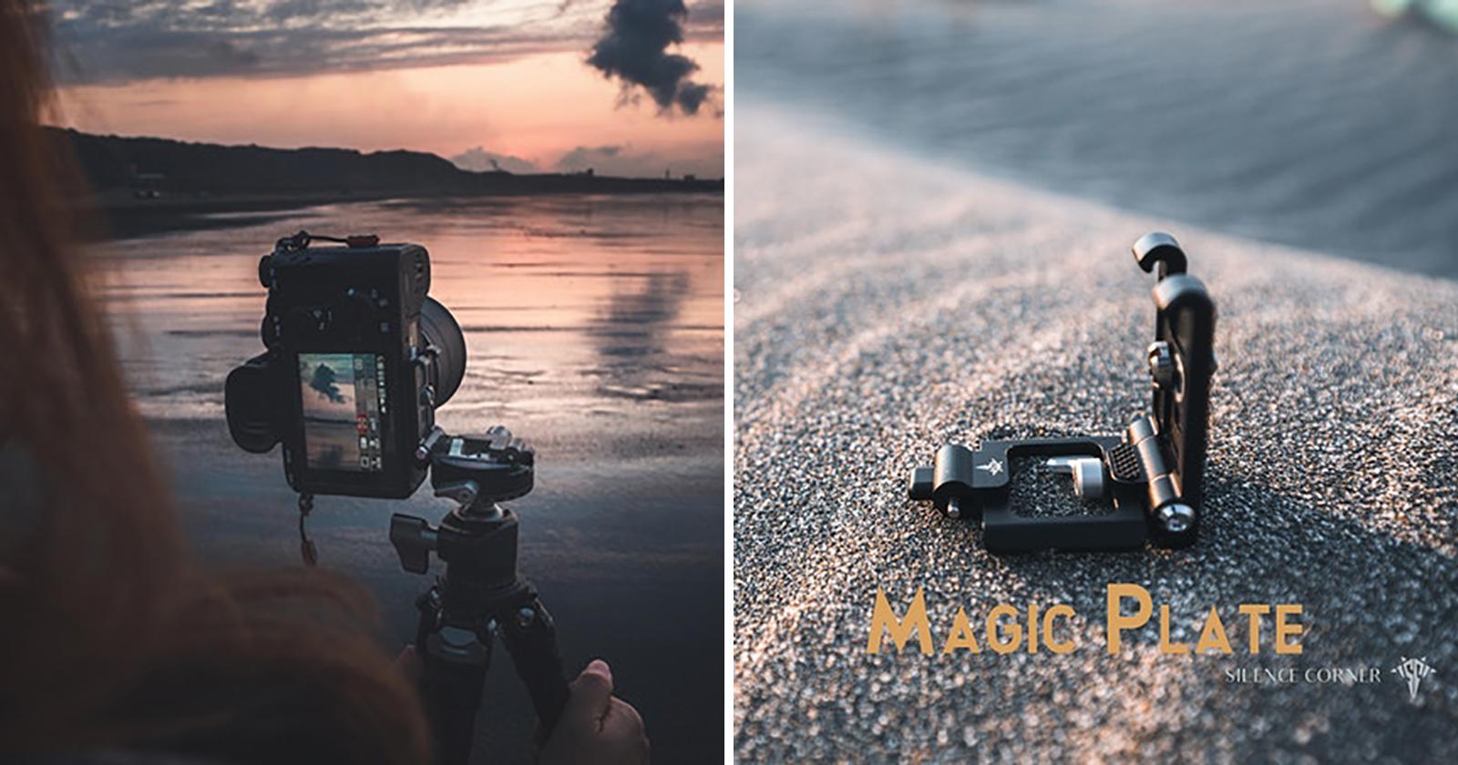 La 'Placa Mágica' te permite cambiar la orientación de tu cámara sin quitarla del trípode