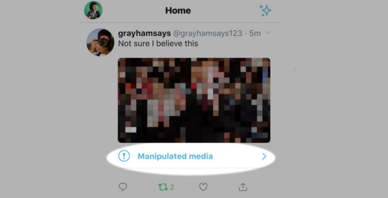 """Twitter comenzará a etiquetar fotos y videos como """"alterados engañosamente""""."""