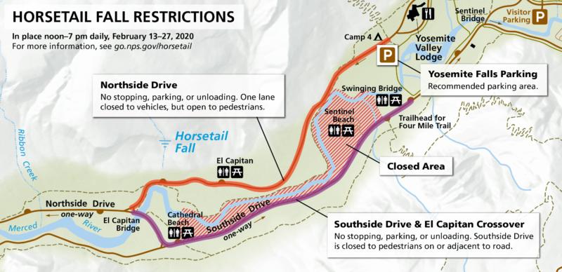 """Yosemite dice que la caída de la cola de caballo tiene """"poca o ninguna agua"""" antes de la caída anual."""
