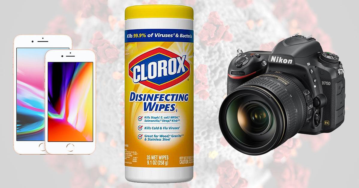 Cómo desinfectar el equipo de la cámara durante la pandemia de Coronavirus