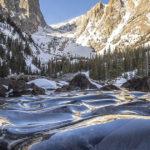 Fotos de Olas Congeladas en un lago alpino de Colorado