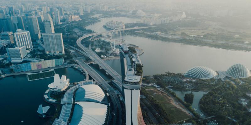 Fotos en Drone de Singapur a 1.640 Pies