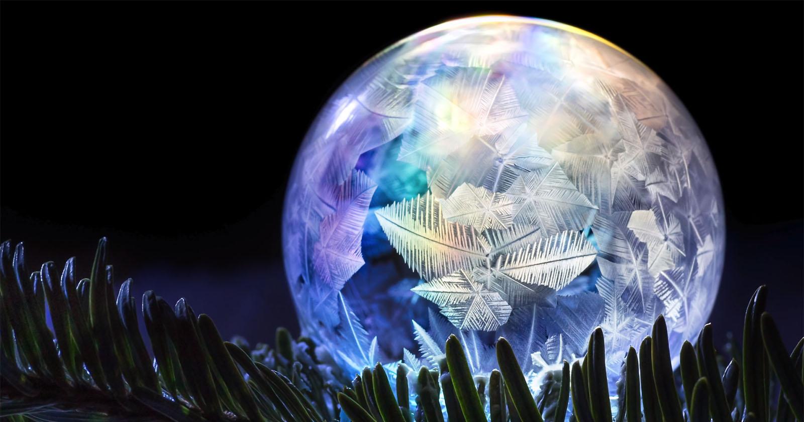 Cómo Hacer y Fotografía Congelada Burbujas de Jabón